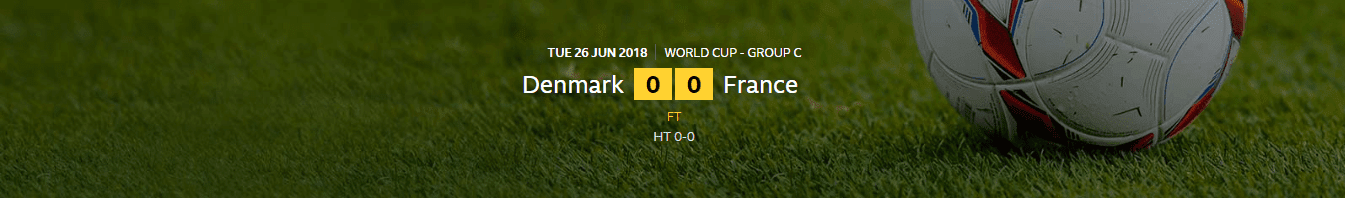 FIFA World Cup 2018: Denmark 0-0 France | Denmark Joined France In The Last 16 OF The World Cup