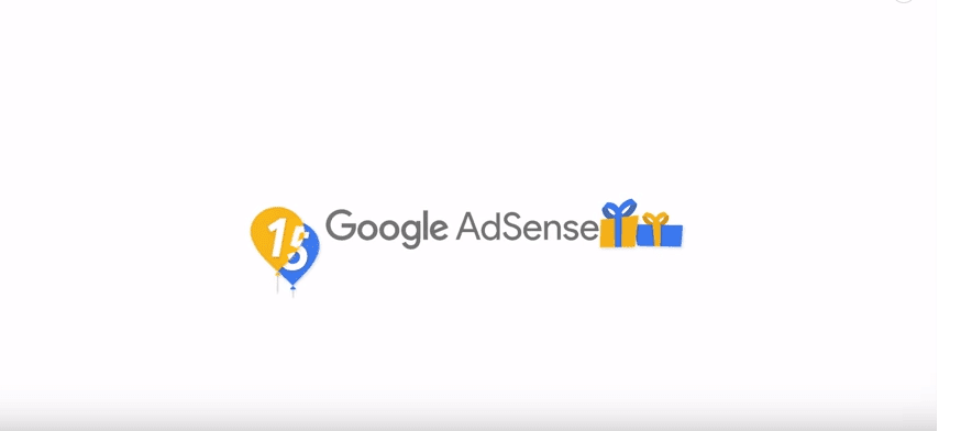 """Google AdSense Celebrates 15 Years With A Video Titled """"15 Words To Sum Up 15 Years""""."""