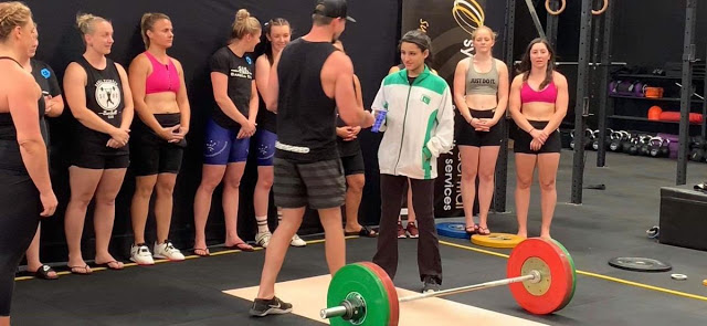 Pakistan's Rabia Shahzad Bags Gold In Weightlifting In Australia