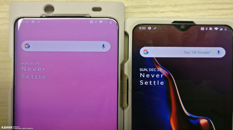 Leaked Image of OnePlus 7  Reveals Bezel-less Display
