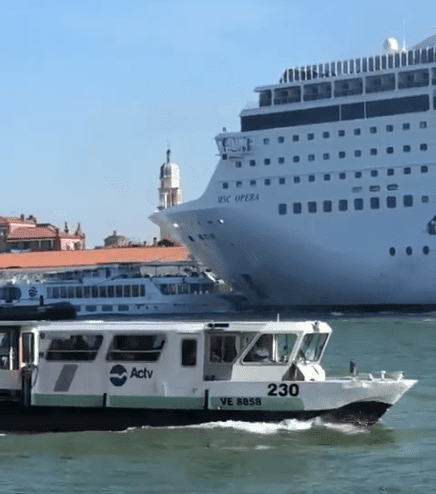 Cruise Ship Crashes Into Ferry In Venice Dock Injuring 4 Tourists