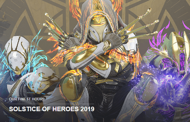Destiny 2 Update 2.5.2 : Solstice OF Heroes 2019 Patch Notes Released