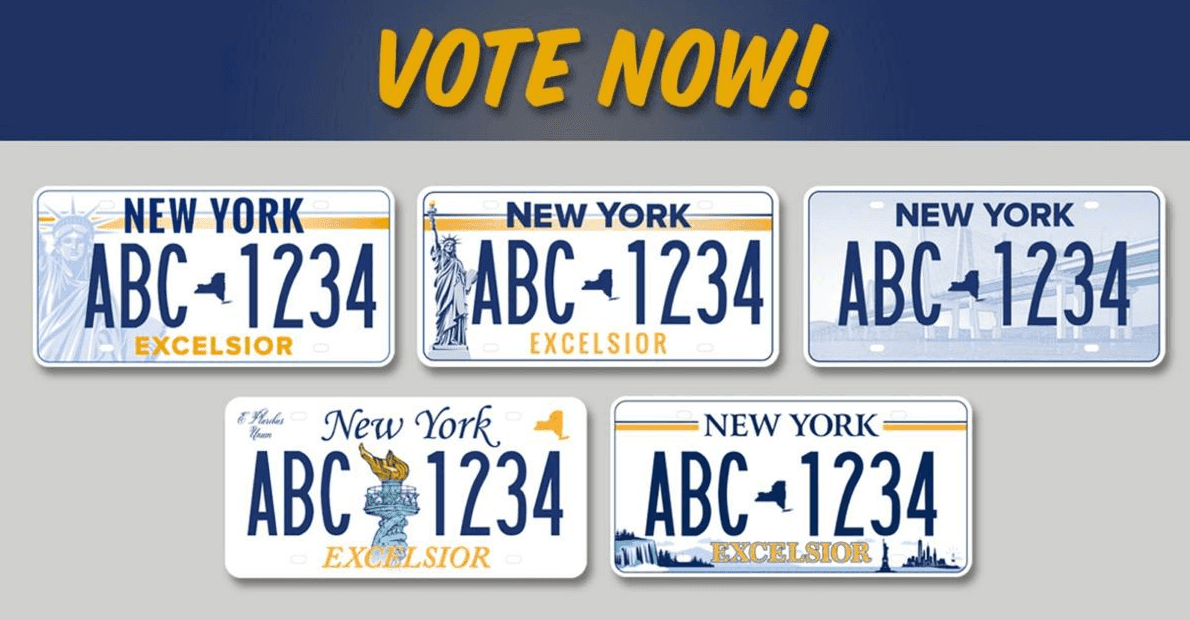 Gov. Cuomo Launches Survey For New NYS License Plate: Voting Now Open For New Designs